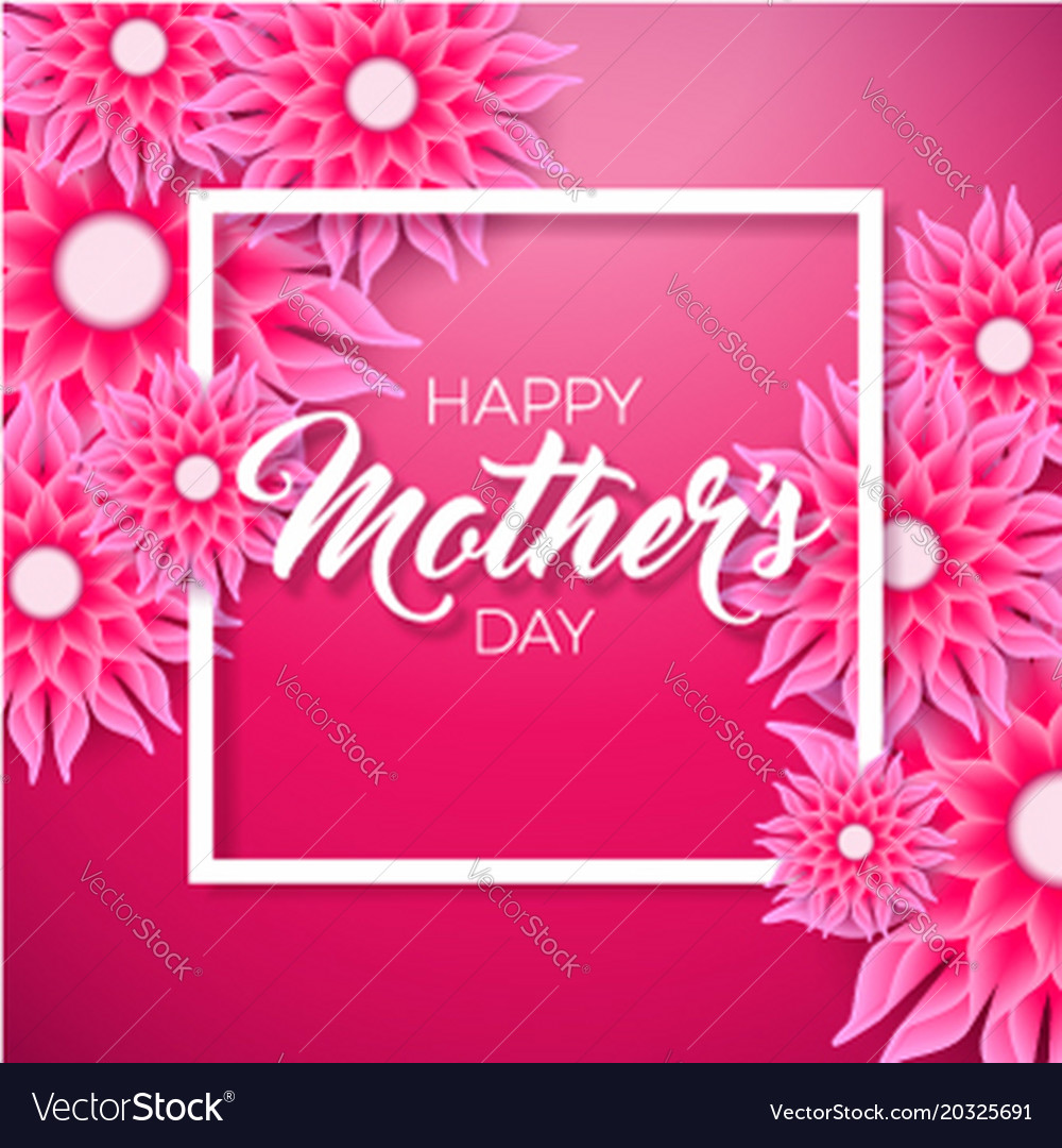 Happy mothers day greeting card with flower on vector image m4hsunfo
