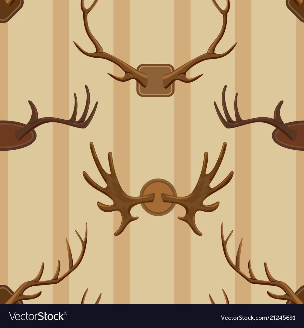 Horn horned wild animal and deer or