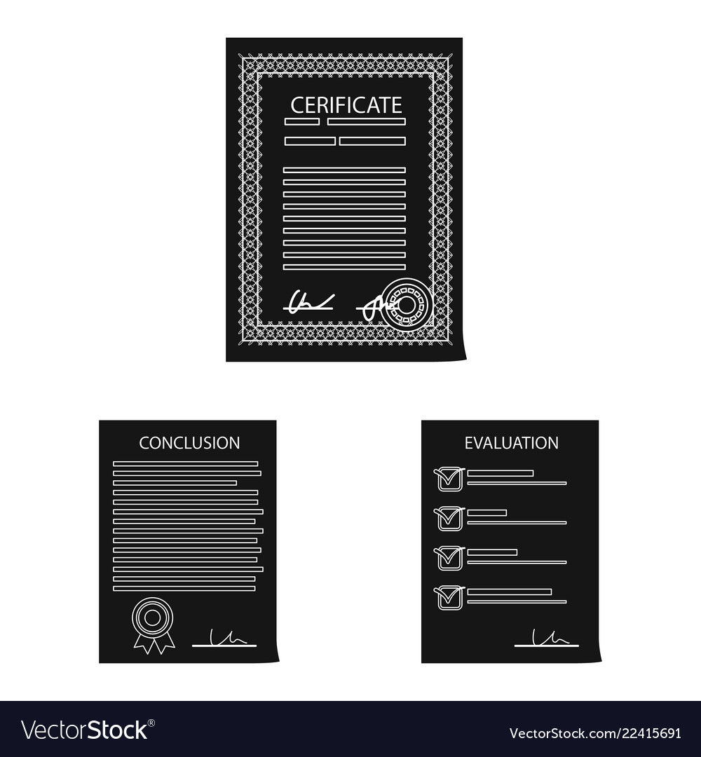 Isolated object of form and document icon set of