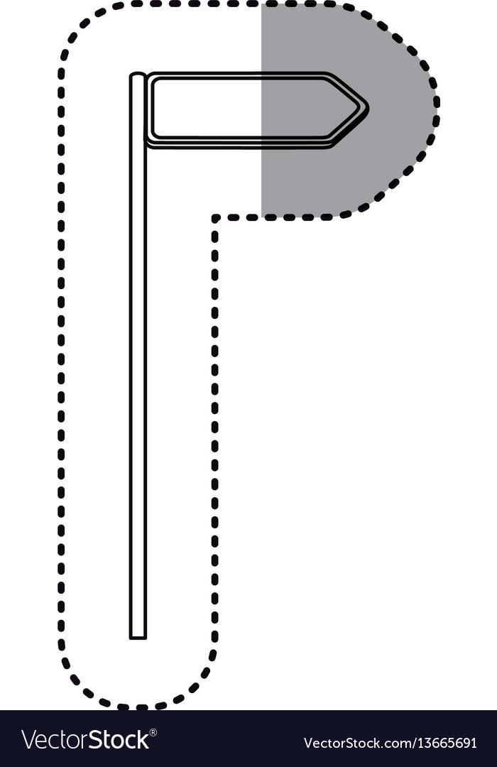 Sticker metallic blue diamond shape traffic sign