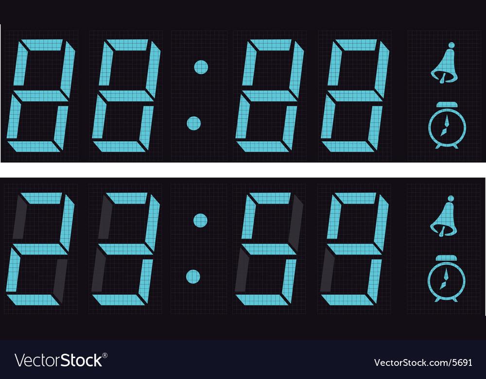 The display a digital clock vector image