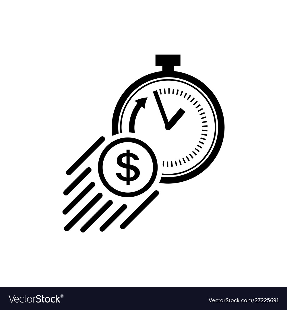 Icon Fast Money Concept Royalty Free Vector