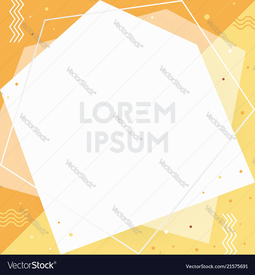 Trendy memphis cards design