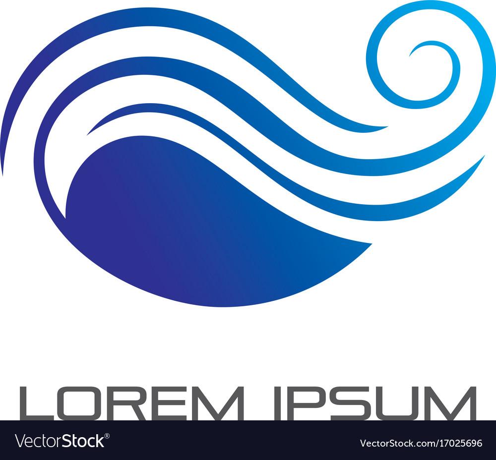 abstract wave ocean logo royalty free vector image rh vectorstock com ocean logos designs ocean logistics miami