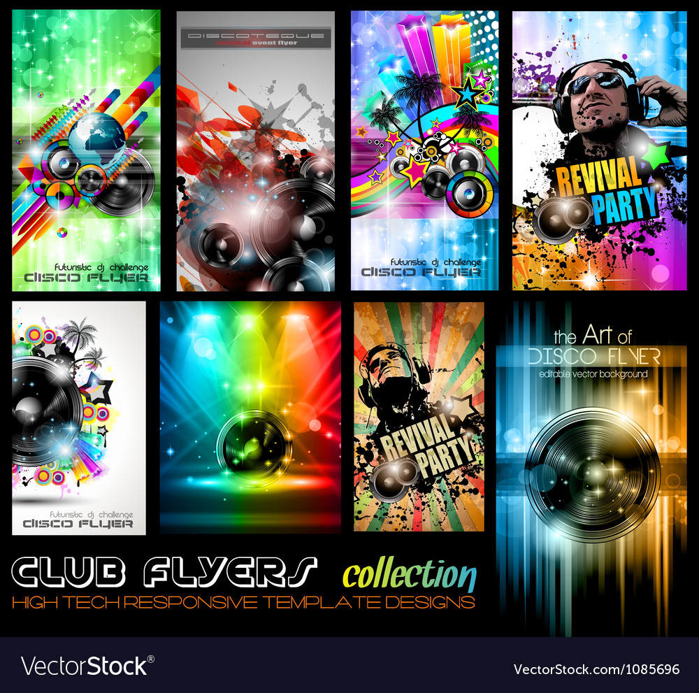 Club Flyers ultimate collection - High quality vector image
