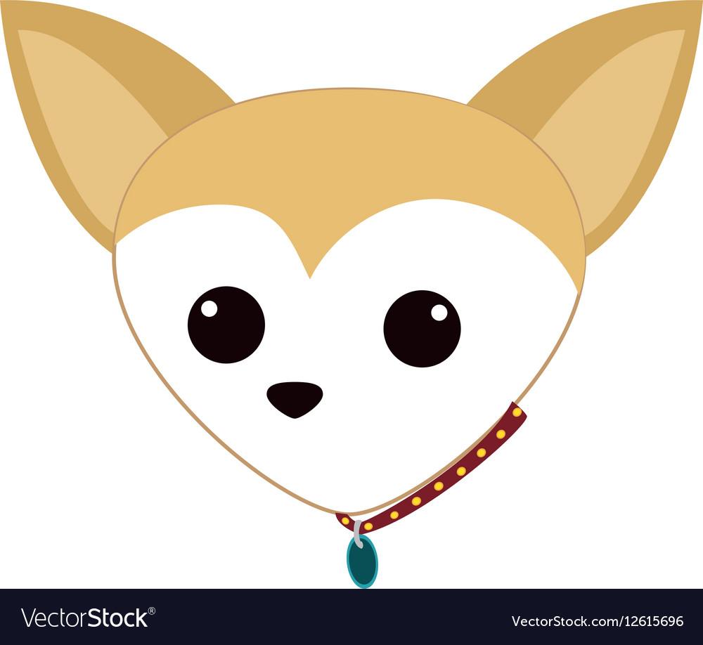 Cute dog face vector image