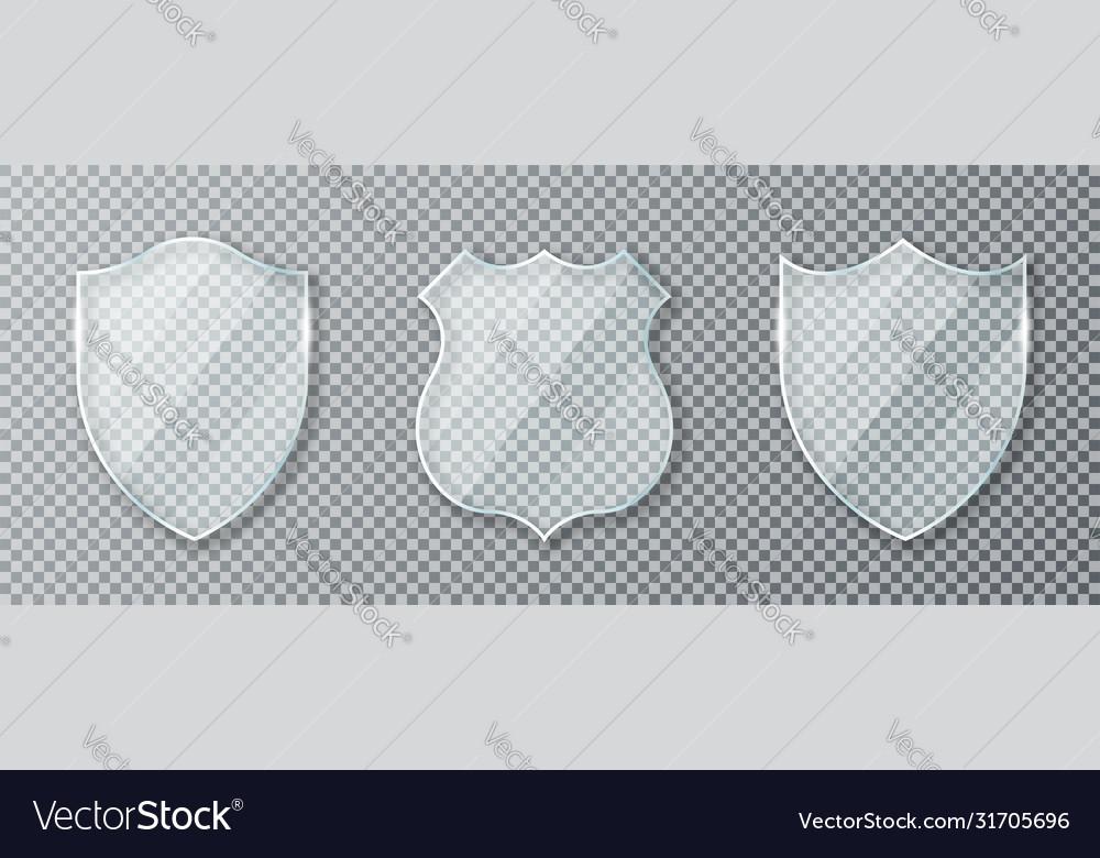 Glass shield set transparent shields