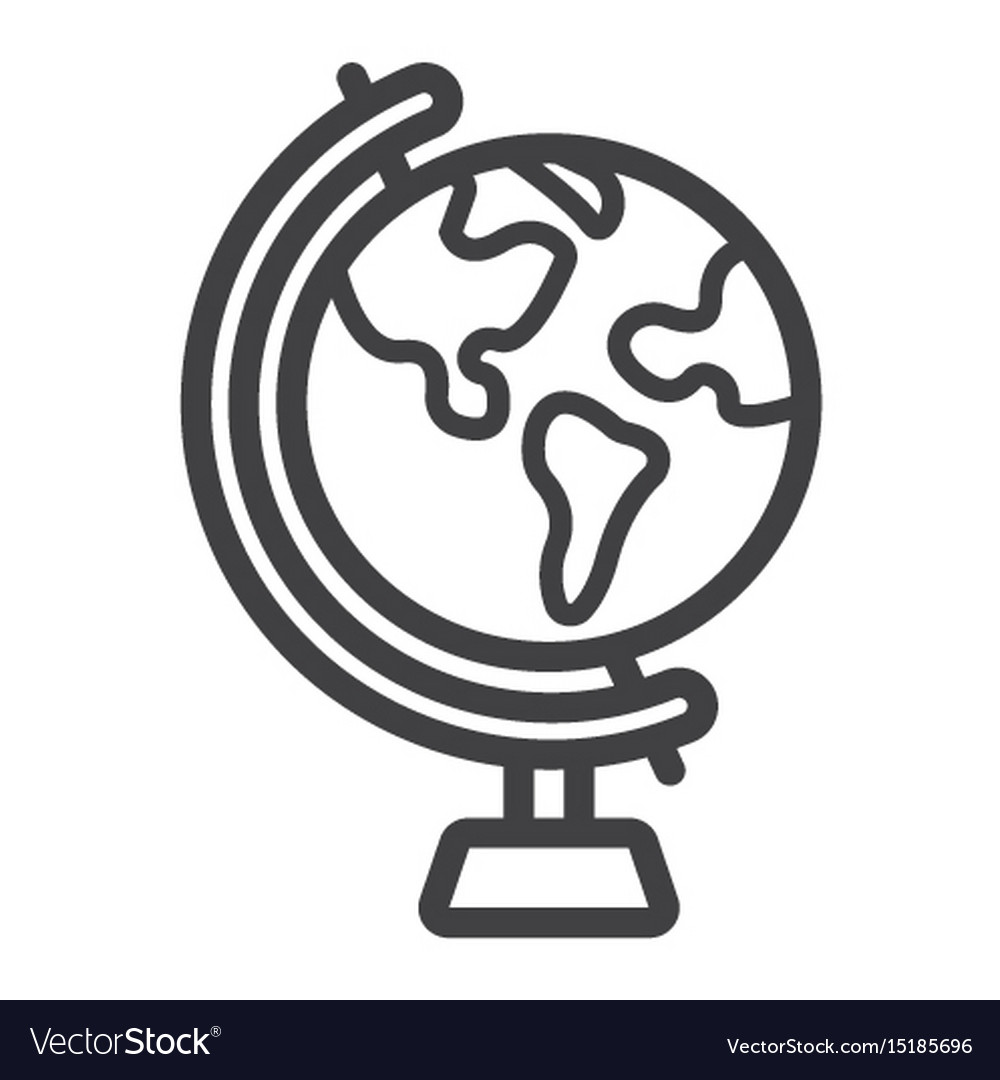 Line Globe Icon Wiring Diagrams Hard Drive Circuit Board 100716565 Reva St2000dx001 On Aliexpresscom World And Geography Royalty Free Vector Rh Vectorstock Com Cave Green