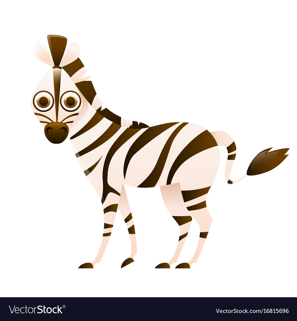 Zebra cute cartoon character