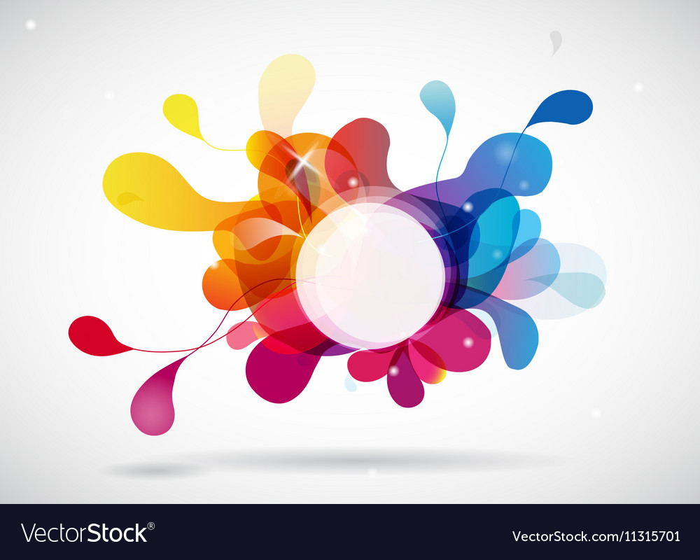 Abstract colored background with circle