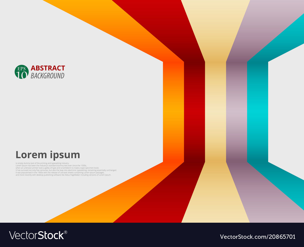 Abstract of gradient colorful strip line patterns vector image