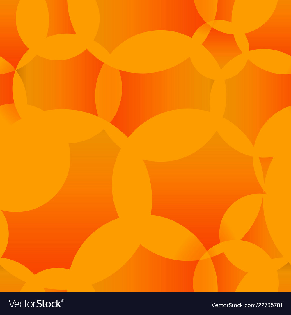 Abstract seamless background of orange molecules