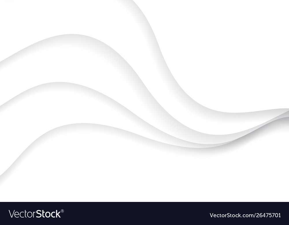 Abstract white paper cut curve overlap design