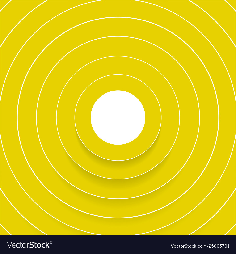 Abstract yellow circles with shadow background