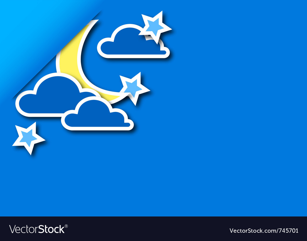 Background of the night vector image