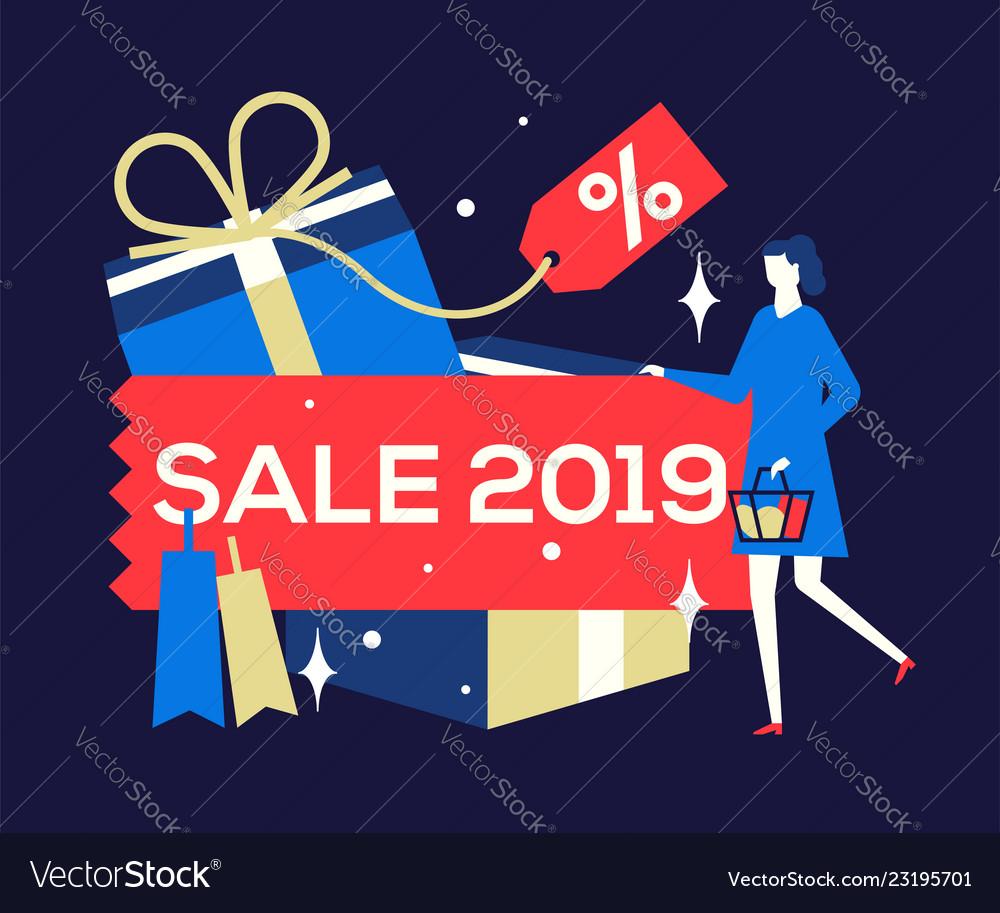 Big sale 2019 - flat design style colorful