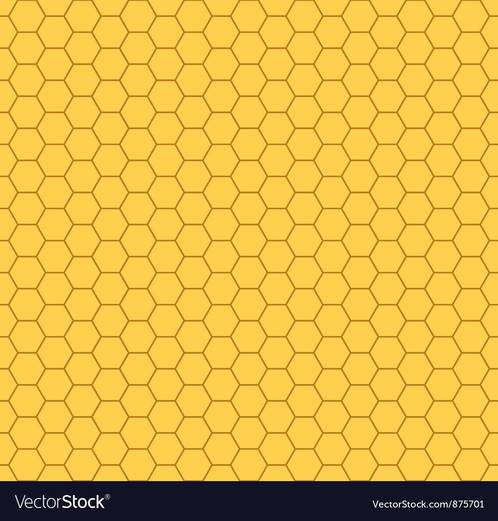 Honeycomb pattern vector image