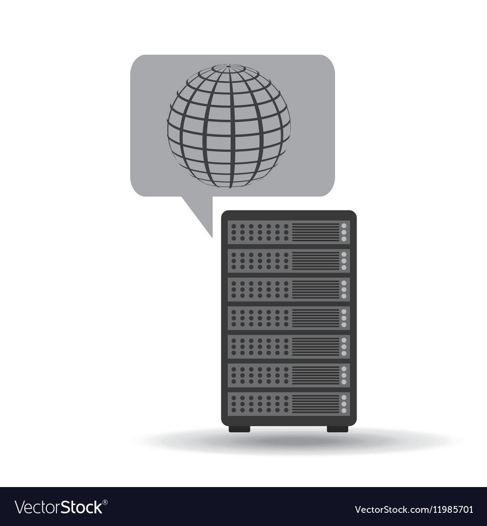 Network server concept globe world
