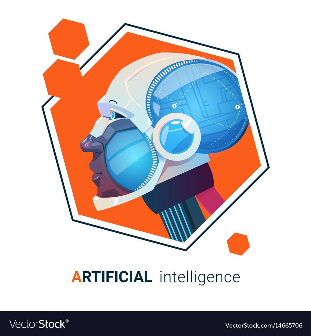 Artificial intelligence modern robot brain