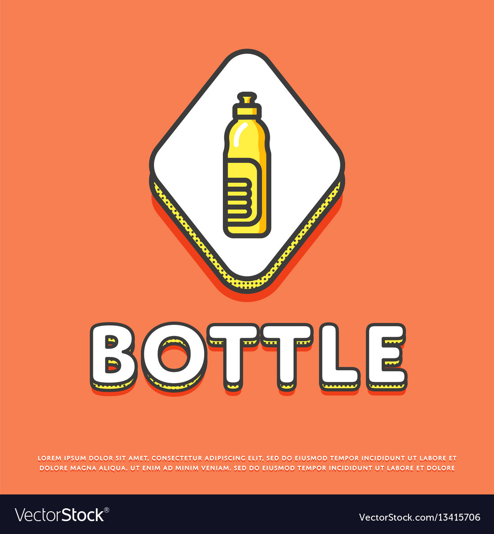 Bottle colour icon in line design