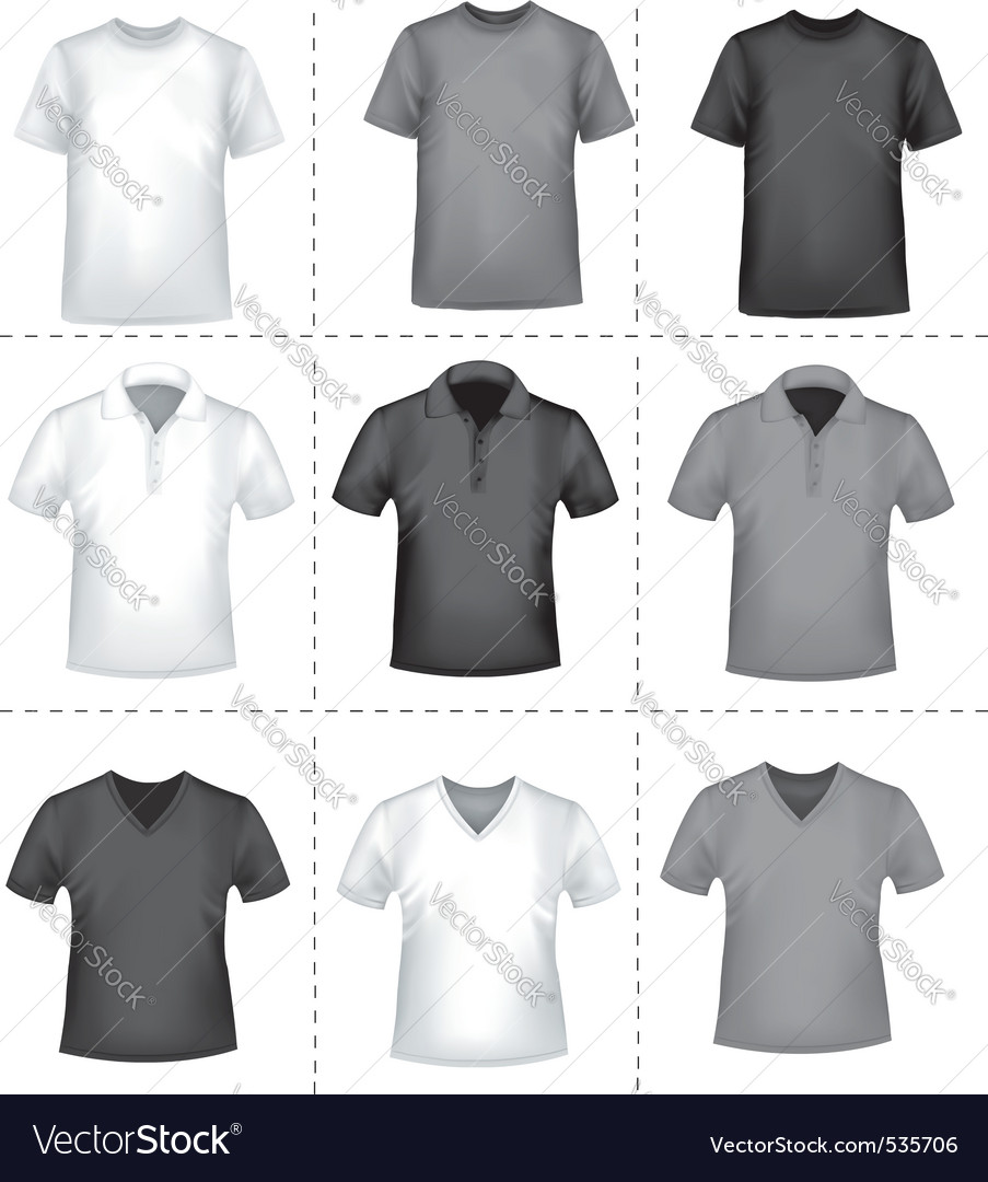 Colored And White Shirts Royalty Free Vector Image