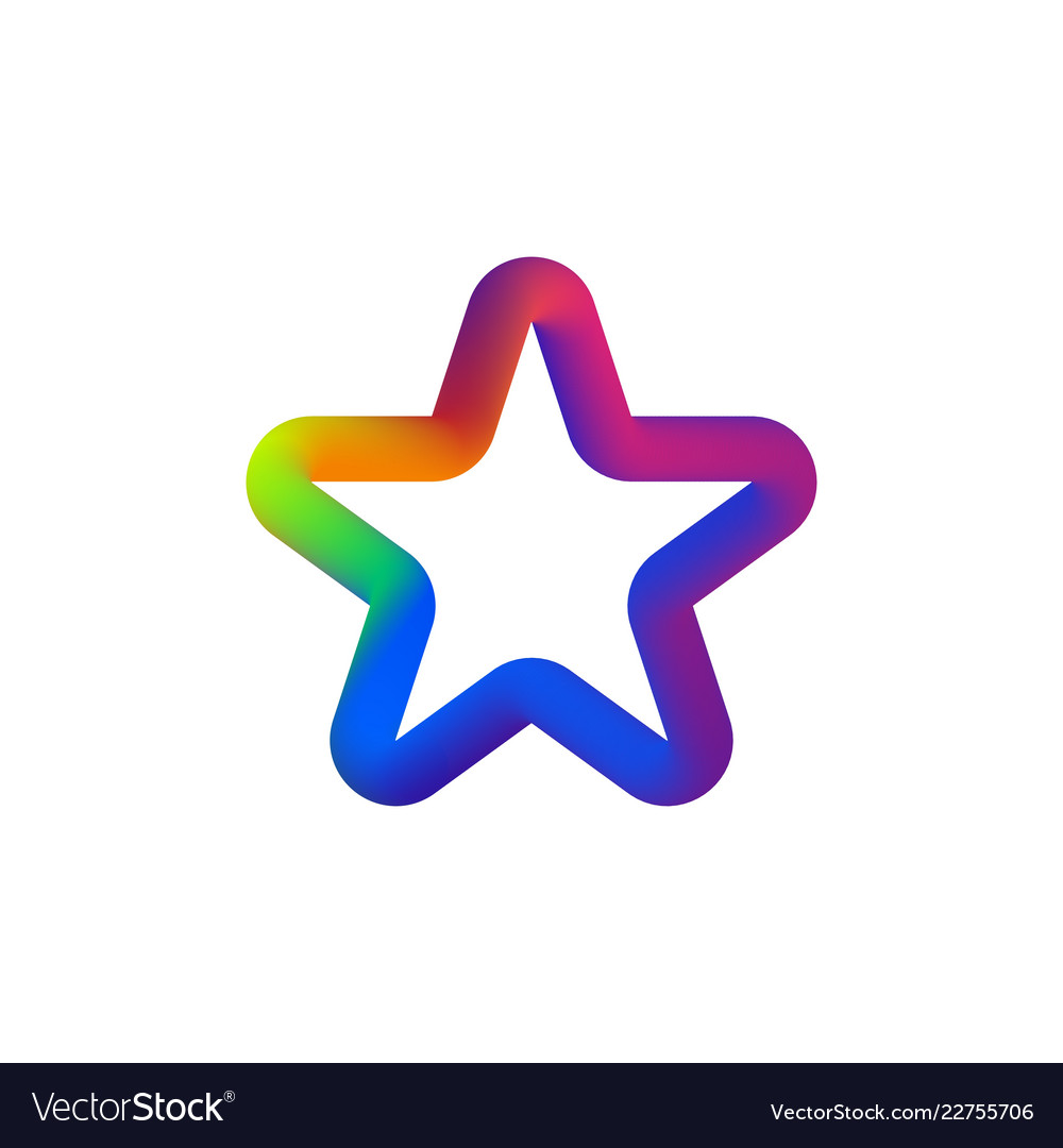 Colorful star logo isolated star- icon on