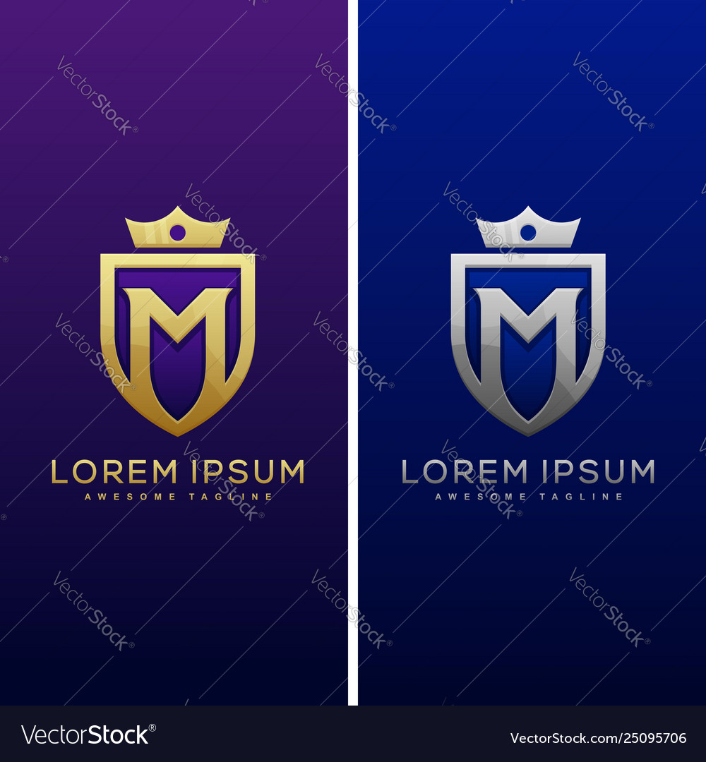 Luxury letter m concept design template