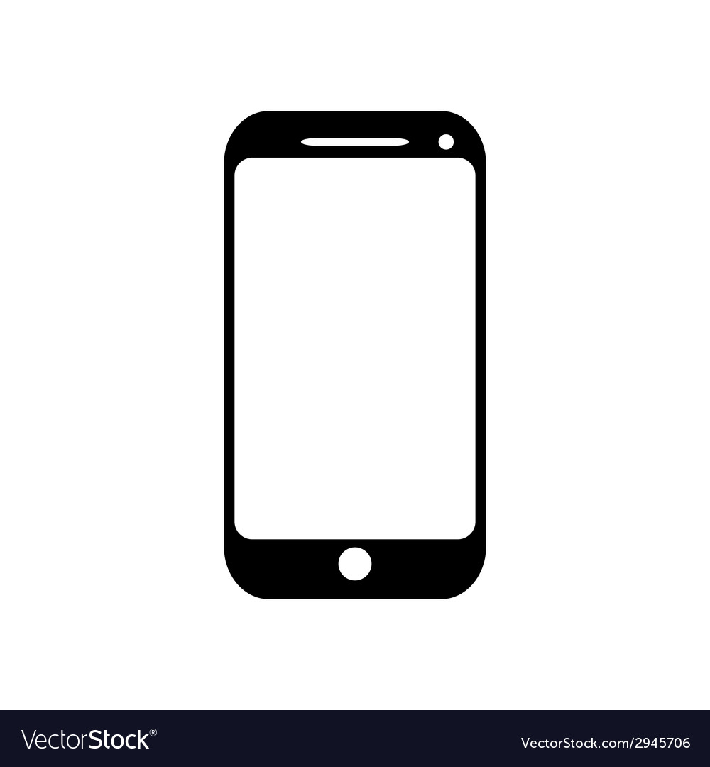 mobile phone icon royalty free vector image vectorstock rh vectorstock com vector phoneme vector phone wallpapers