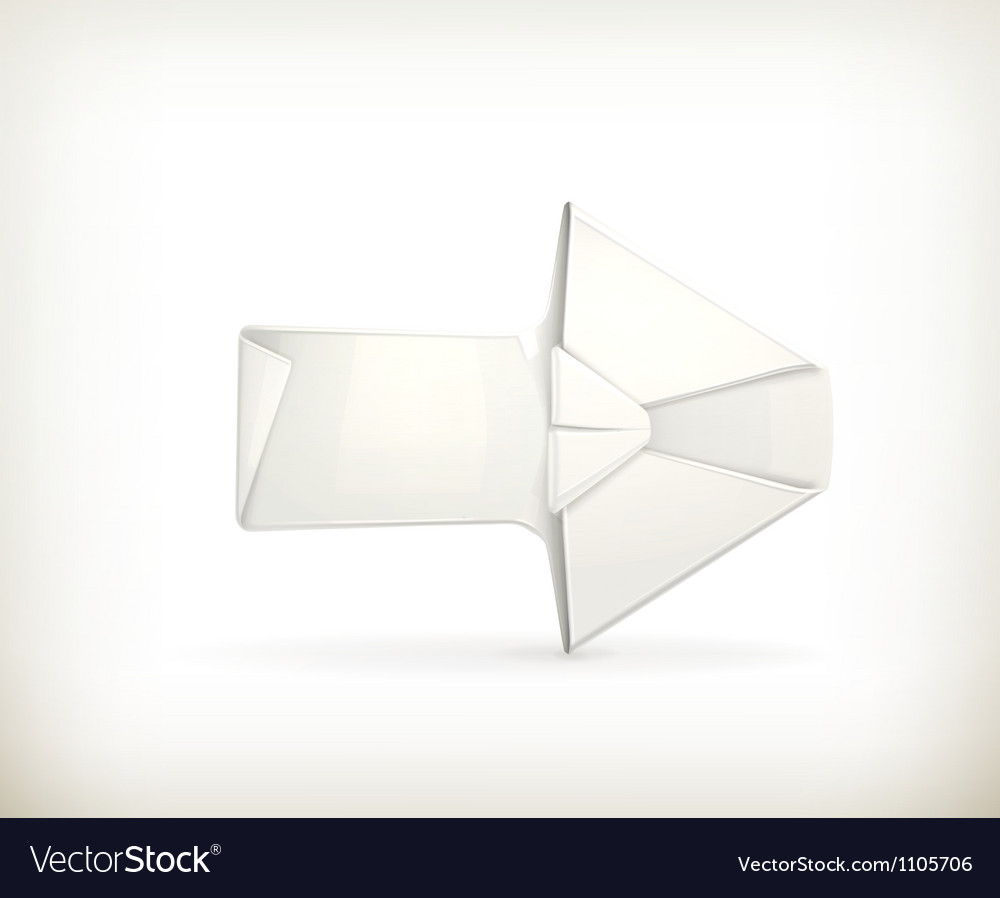 Origami arrow vector image