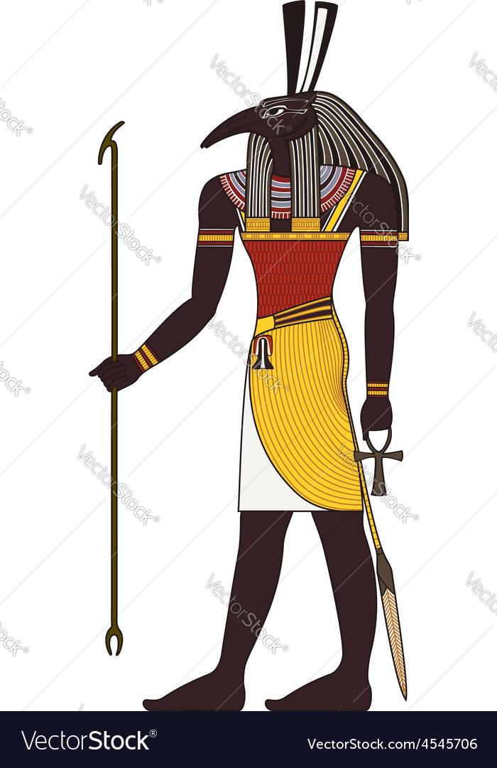 Seth Isolated figure of ancient egypt god