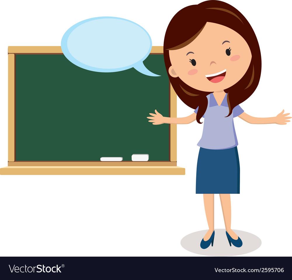 Teacher on lesson vector image