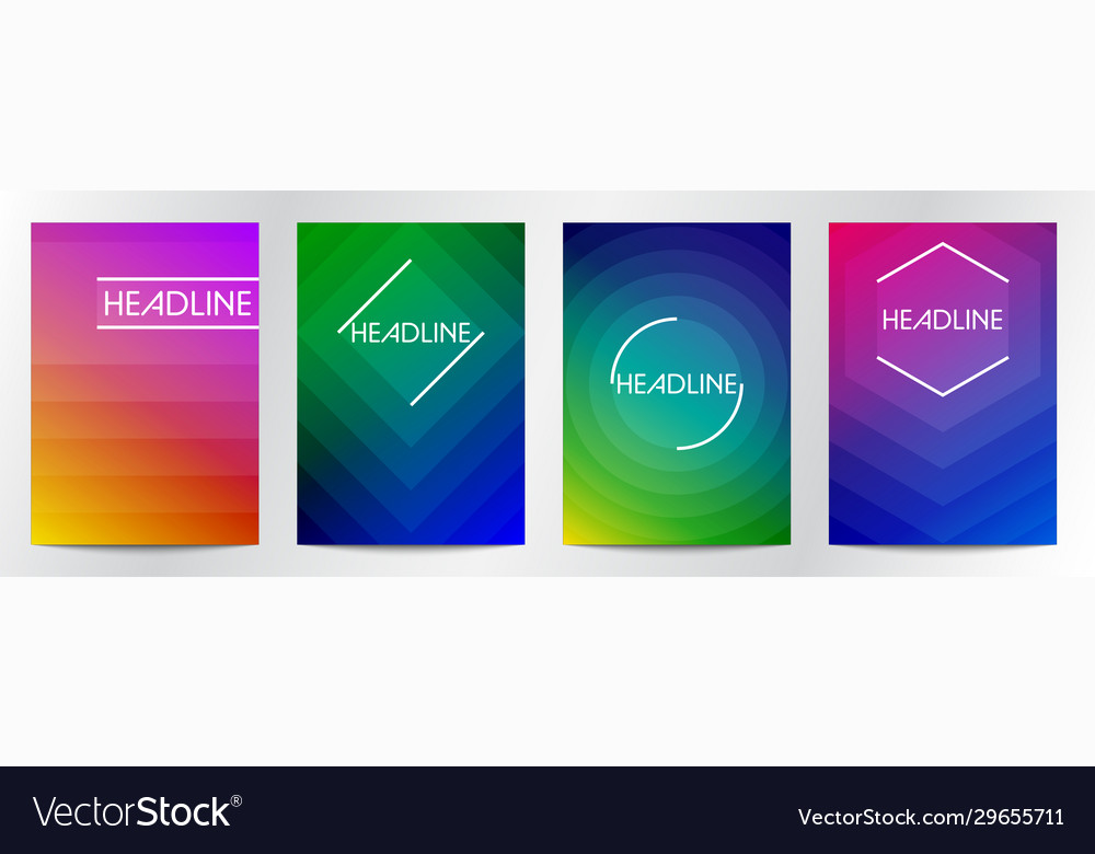 Abstract gradient color for book cover brochure