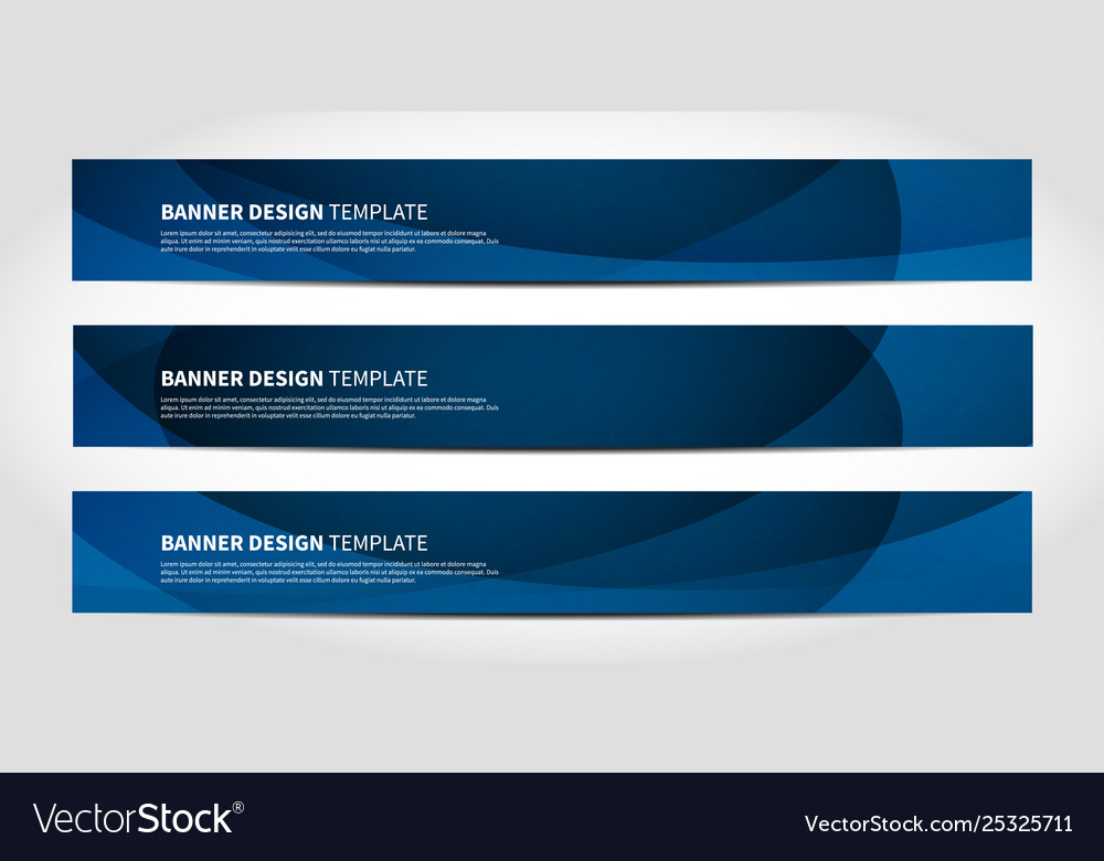 Banners with abstract geometric blue