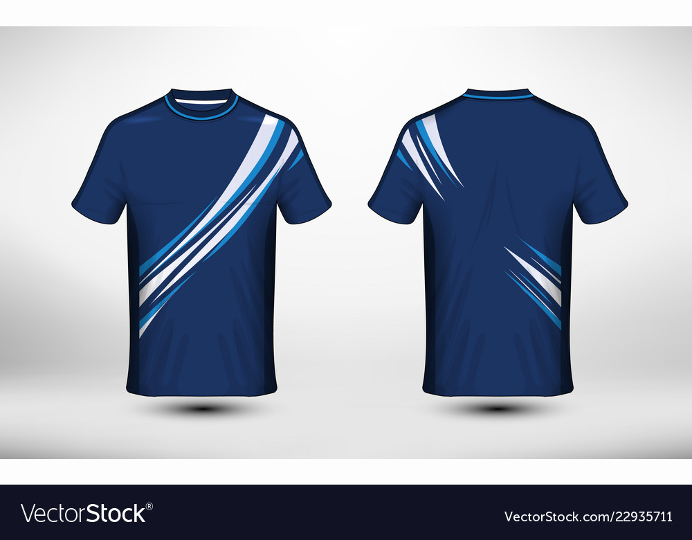 3b1093a9ec6fbb Blue and white layout e-sport t-shirt design Vector Image