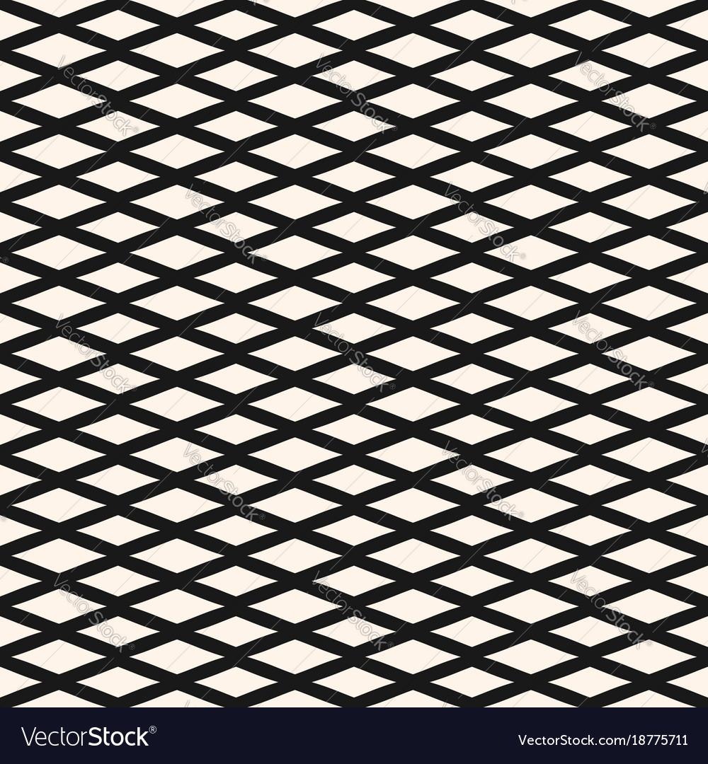 Diamond Seamless Geometric Pattern Mesh Texture Vector Image
