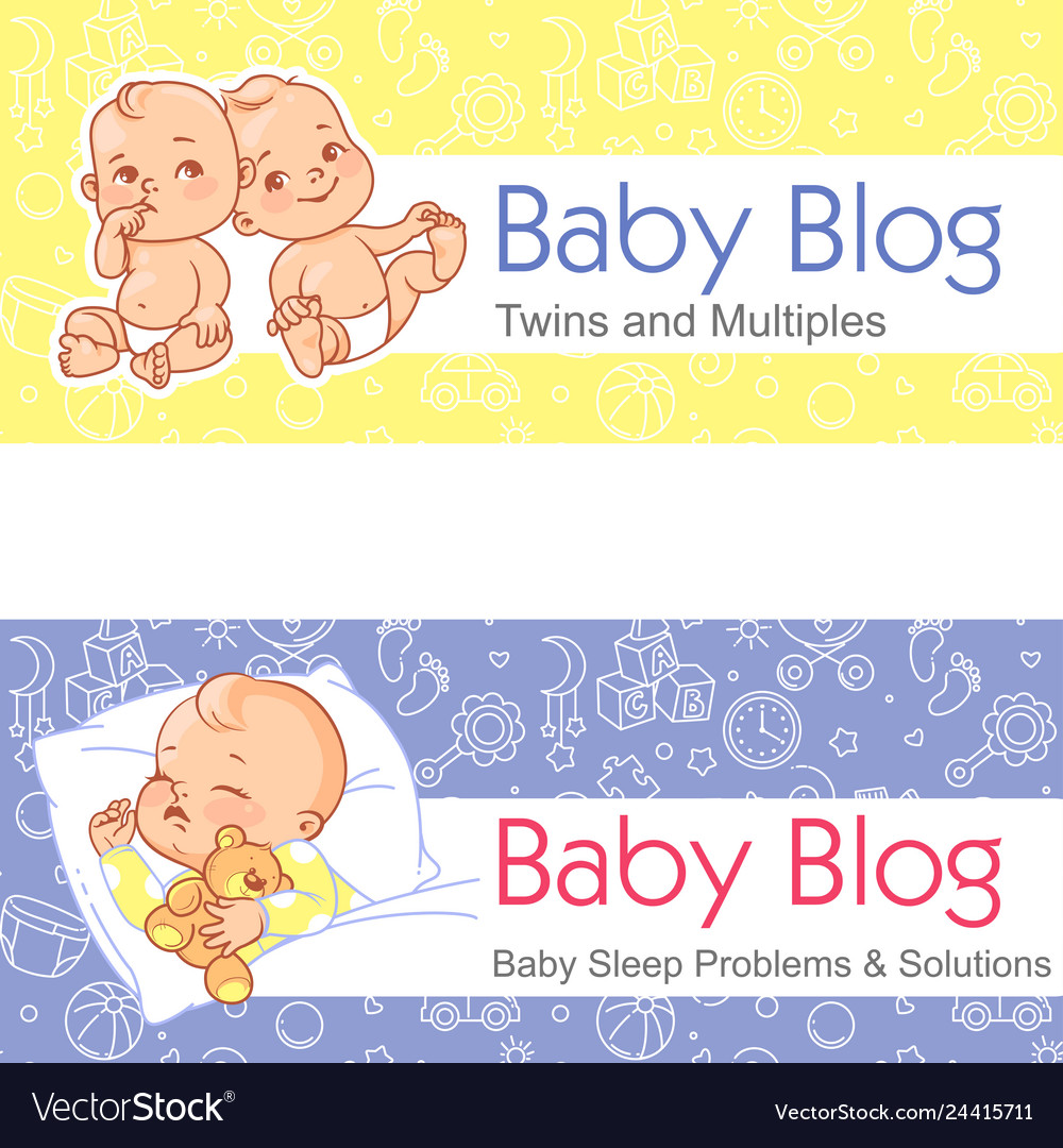 For Blog Twin Babies Sleeping Baby Royalty Free Vector Image