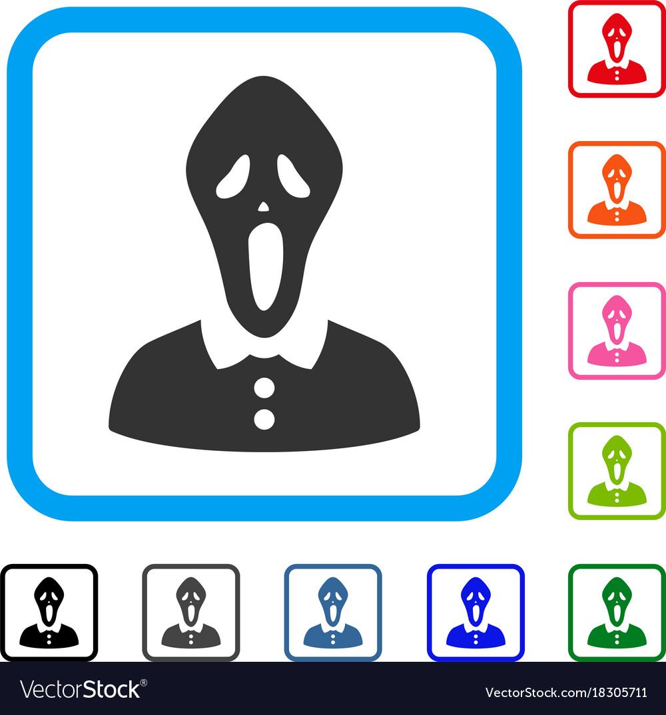 Horror framed icon