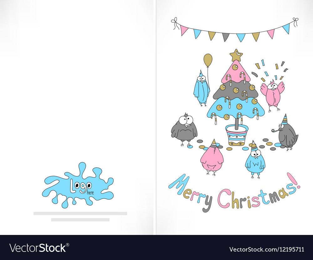 Ready to print christmas card Royalty Free Vector Image