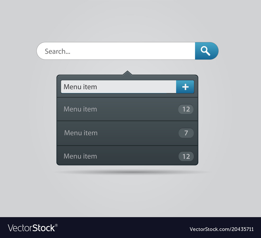 Search bar design element