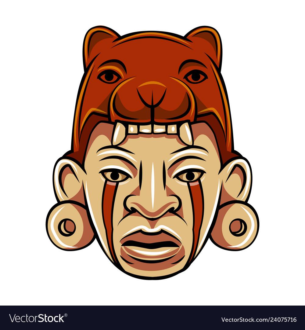 Aztec warrior man character