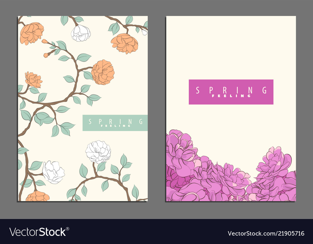 Bright floral cover template