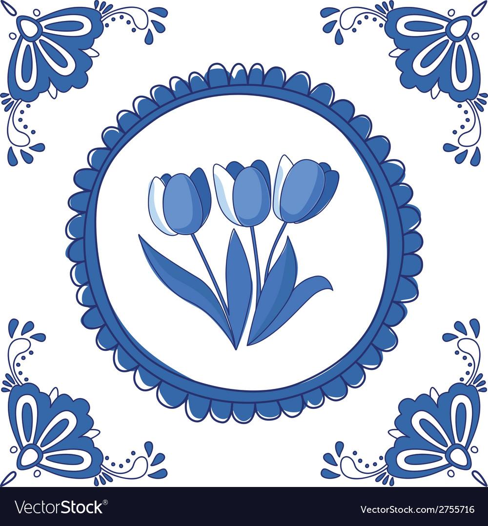 Delft Blue tulips