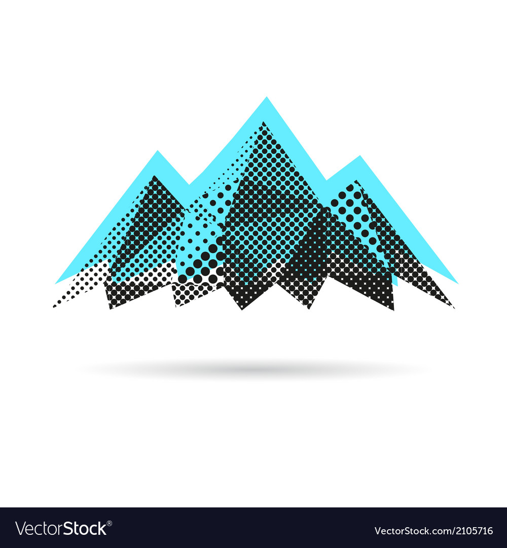 Mountain abstract isolated