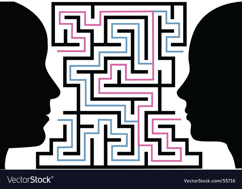 Puzzle maze vector image