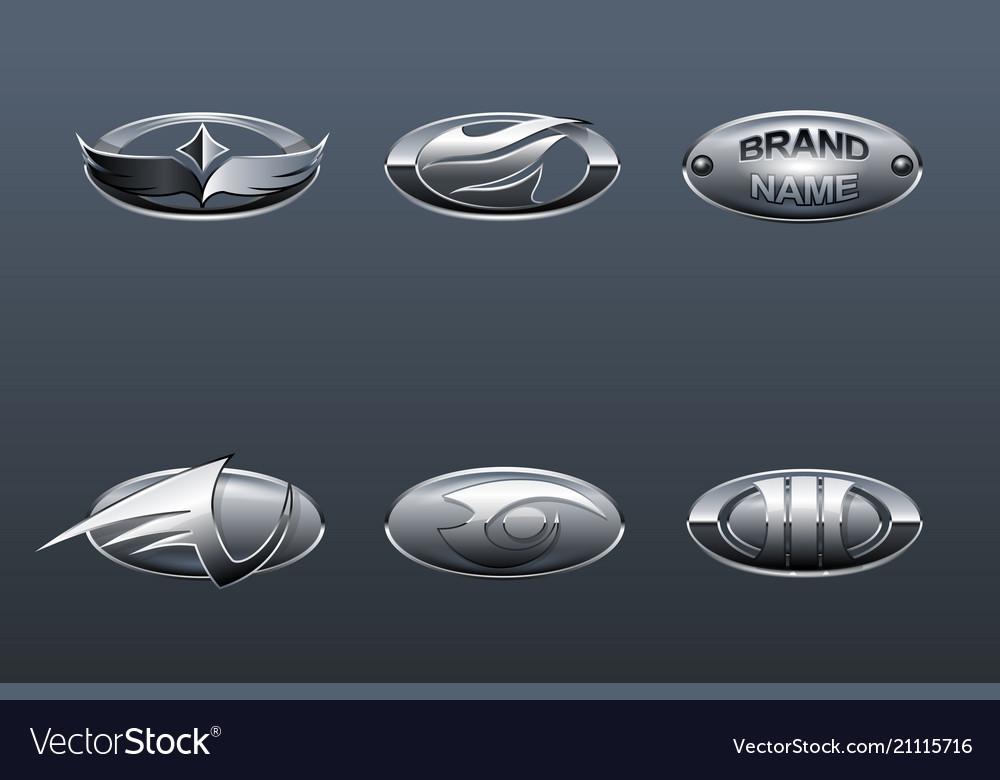Set of car logo