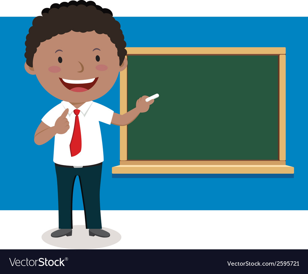Businessman giving presentation vector image