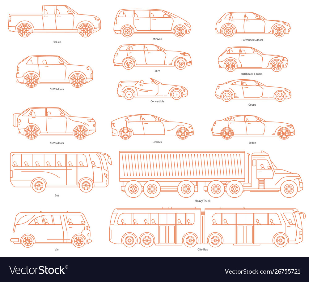 Car body style public transport and passenger