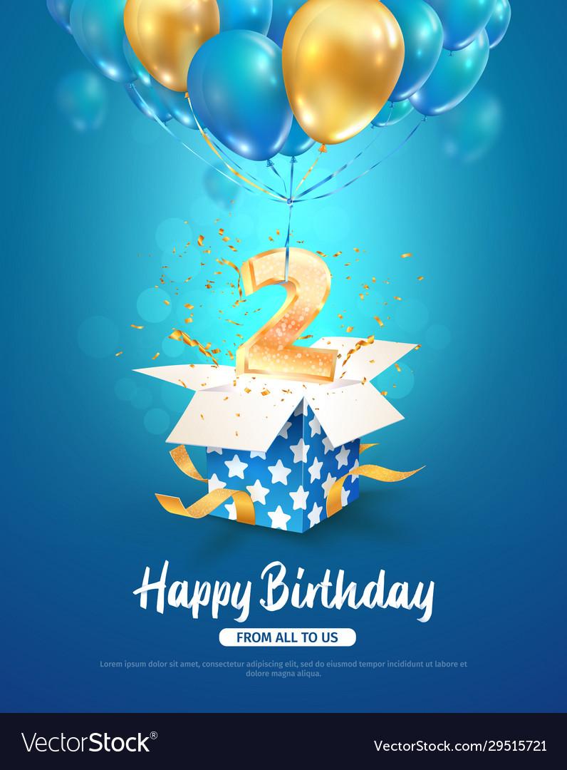 Celebration 2 th years birthday 3d