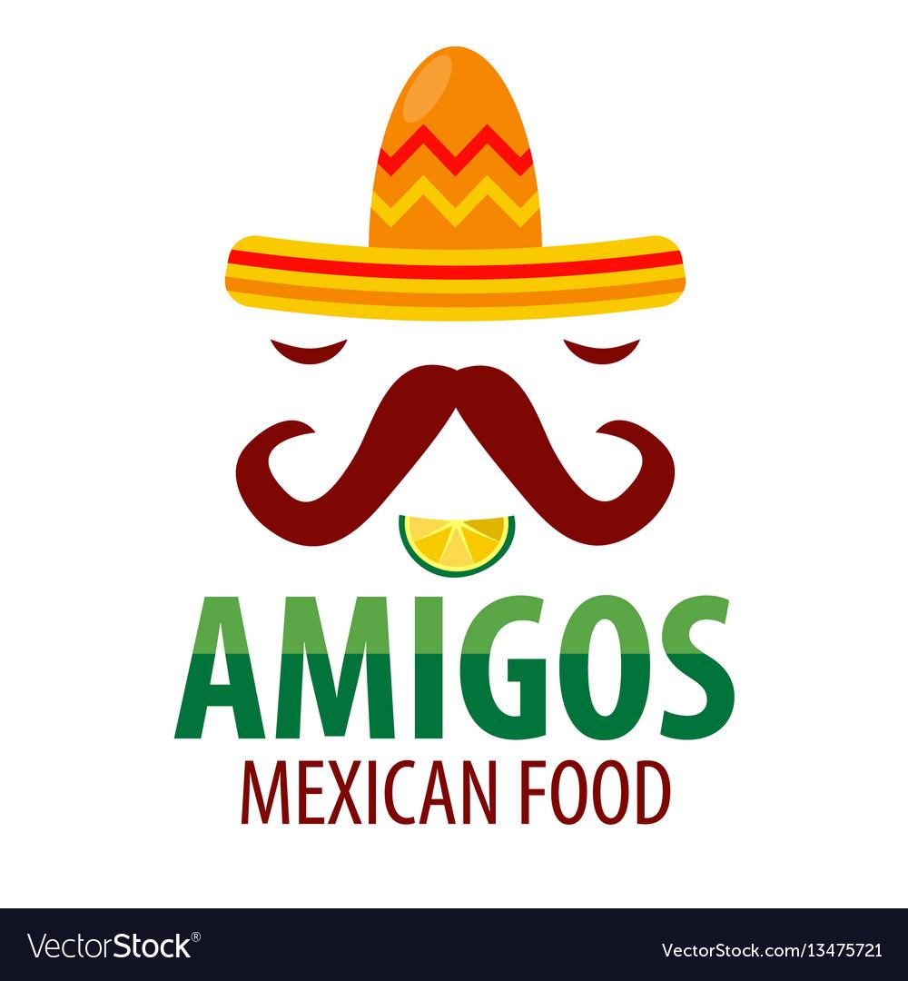 Mexican food restaurant sombrero mustaches
