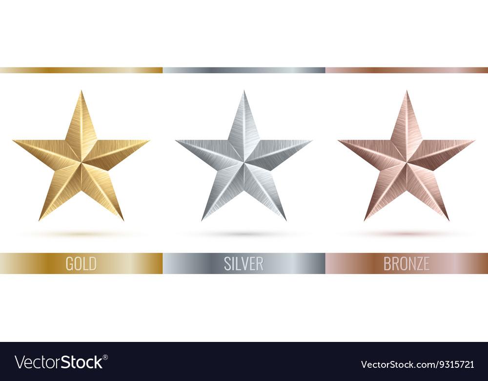 Realistic metallic 3 stars